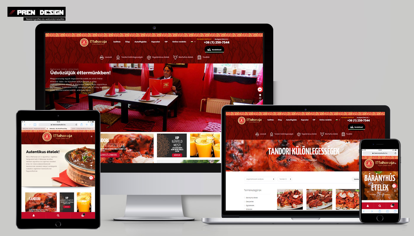 Weblap készítés Indiai étterem
