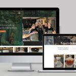 kávézó bemutatkozó weboldal