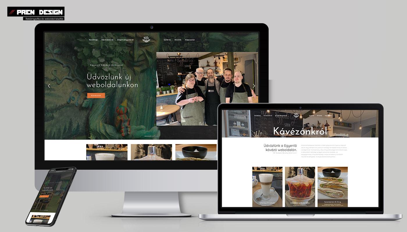 Egyszerű weboldal készítés Kávézó számára