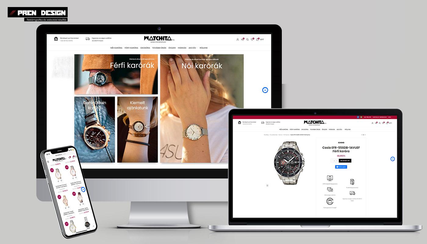 Webáruház készítés márka óra webáruház