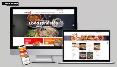Falatozó weboldal készítés pizza és ételrendeléssel