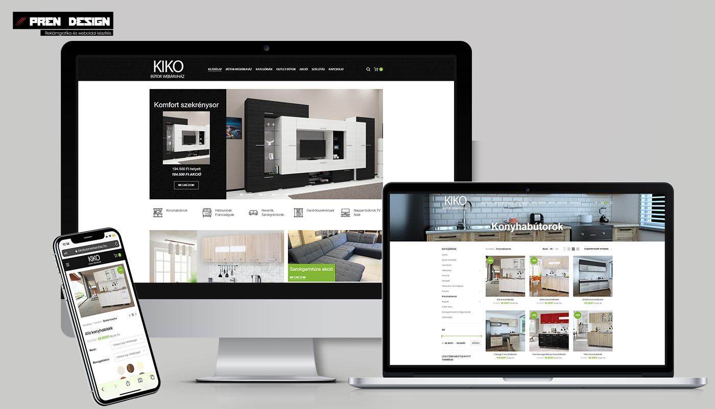 Bútor Webshop készítés KIKO bútor