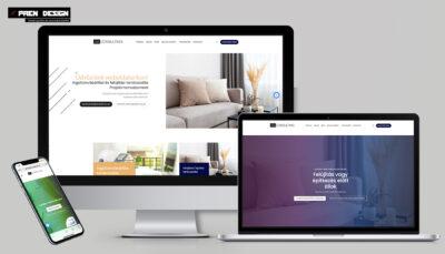 Céges weboldal készítés egyszerű modern letisztult