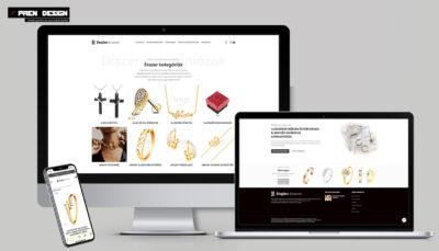 Ékszer webshop készítés